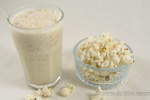 Milk shake vanille et pop-corn