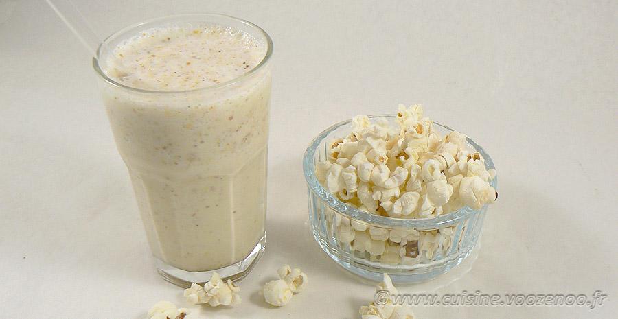 Milkshake vanille et pop-corn slider