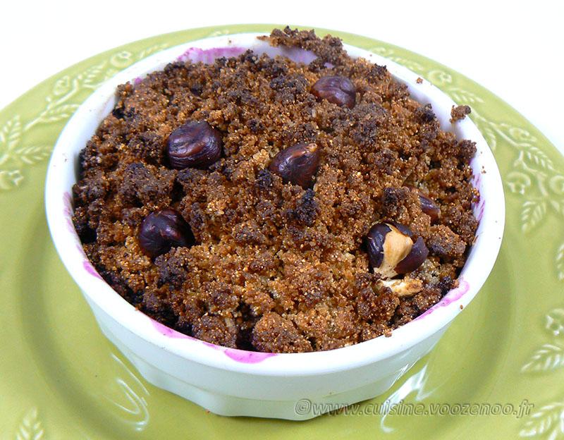 Crumble aux figues et raisins mais pas que ! fin