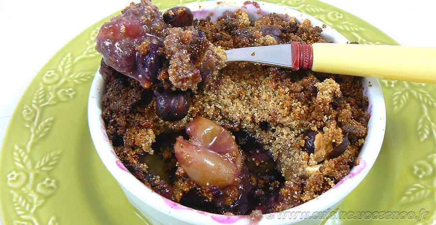 Crumble aux figues et raisins mais pas que ! slider