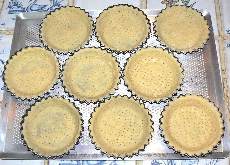 Tartelettes aux amandes et pralines roses etape4