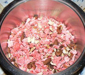 Tartelettes aux amandes et pralines roses etape6