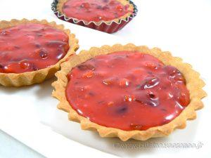 Tartelettes aux amandes et pralines roses presentation