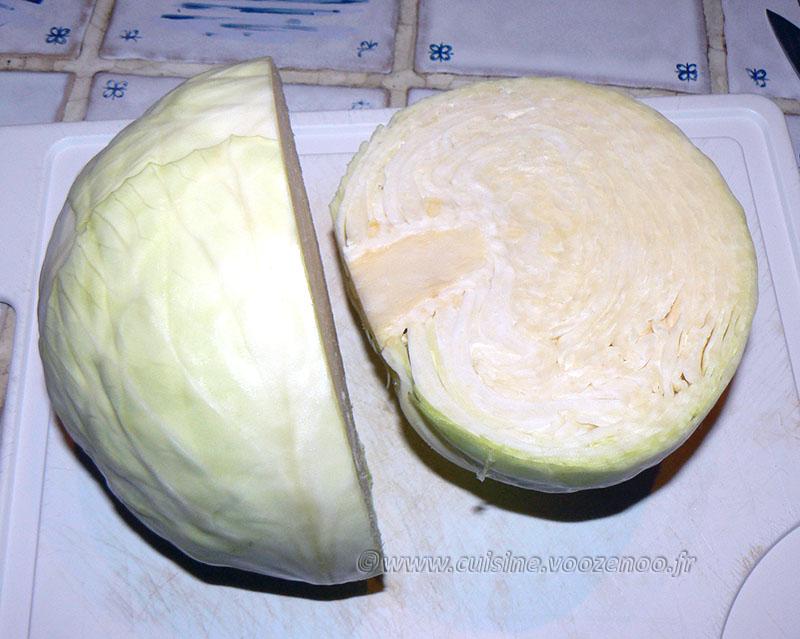 Chou blanc aux lardons façon potée etape1