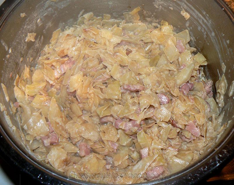 Chou blanc aux lardons façon potée fin