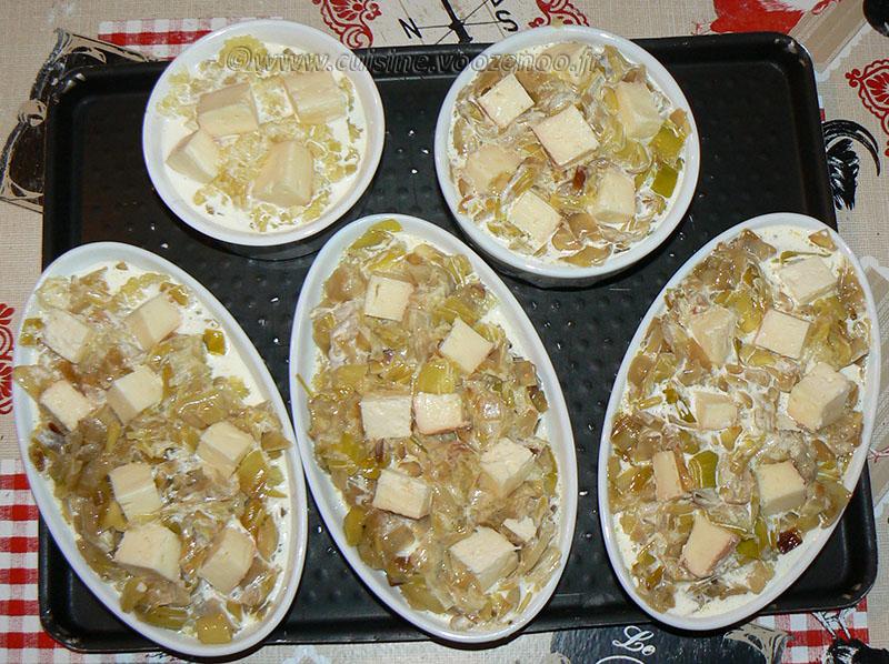 Ramequins de pommes de terre, poireaux et maroilles etape2