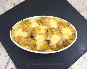 Ramequins de pommes de terre, poireaux et maroilles fin