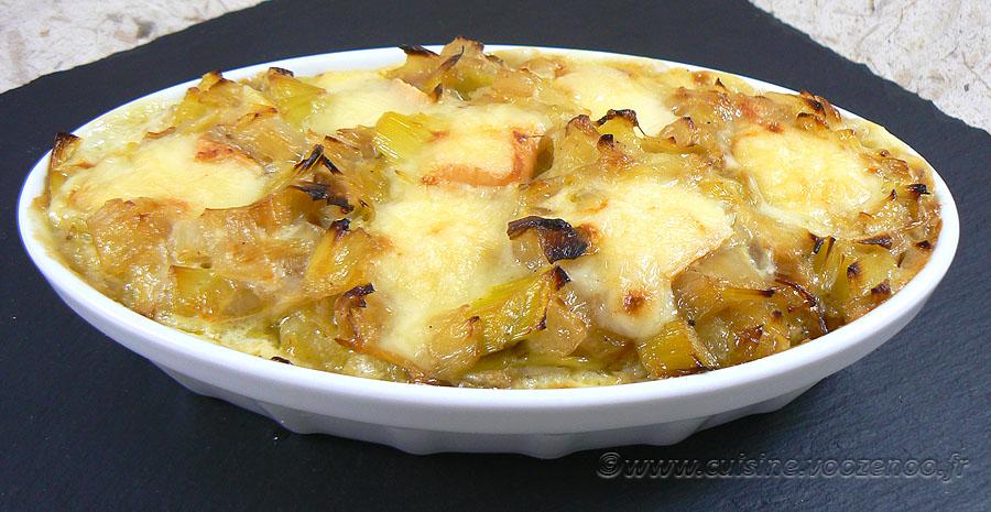 Ramequins de pommes de terre, poireaux et maroilles slider