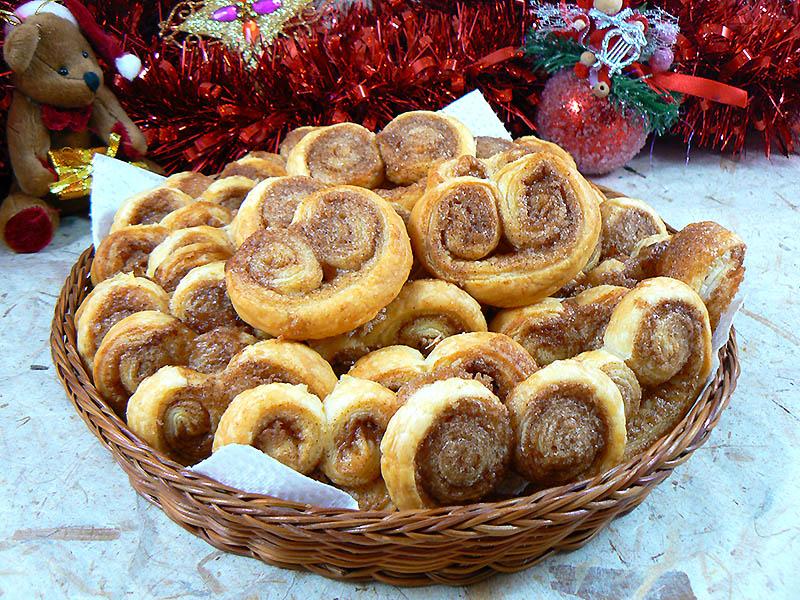 Palmiers aux saveurs pain d'épices presentation