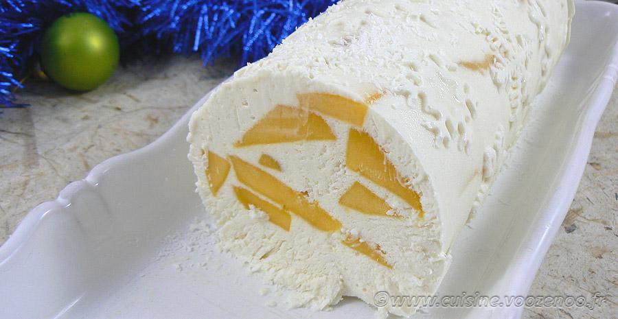 Bûche glacée à la mangue et noix de coco slider