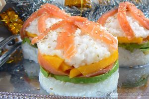 Sushi burger slider