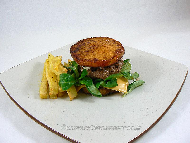 Burger de butternut presentation