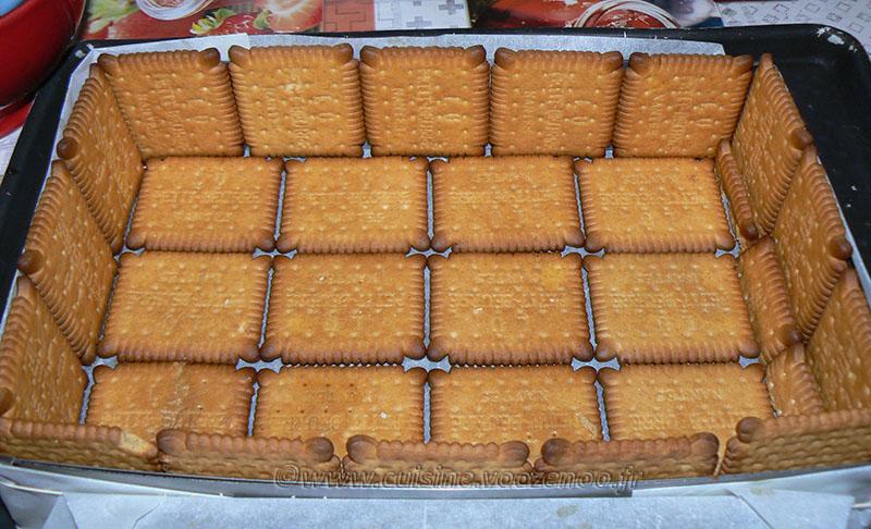 Tiramisu aux fraises et biscuits Petit Beurre etape3