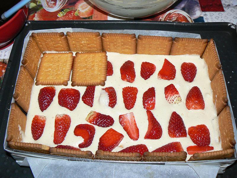 Tiramisu aux fraises et biscuits Petit Beurre etape4