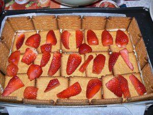 Tiramisu aux fraises et biscuits Petit Beurre etape5