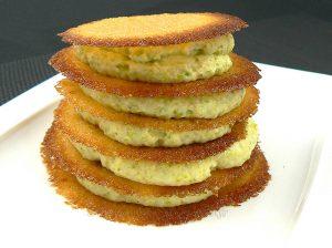 Millefeuille crème de pistache, tuiles croustillantes à l'orange sanguine presentation
