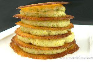 Millefeuille crème de pistache, tuiles croustillantes à l'orange sanguine