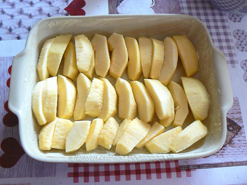 Flognarde aux pommes etape2