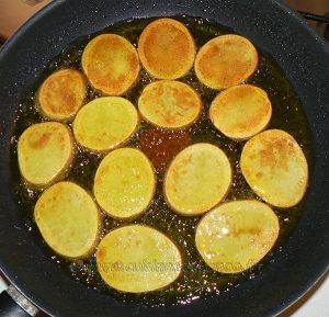 Millefeuille de pommes de terre au lard, bacon et chèvre etape2
