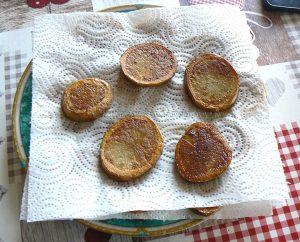 Millefeuille de pommes de terre au lard, bacon et chèvre etape3