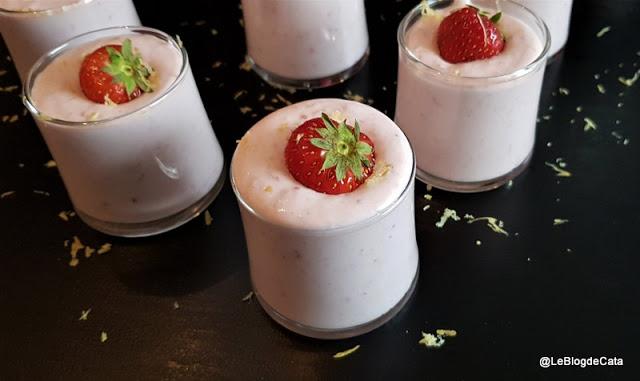 Mousse fraises catalina