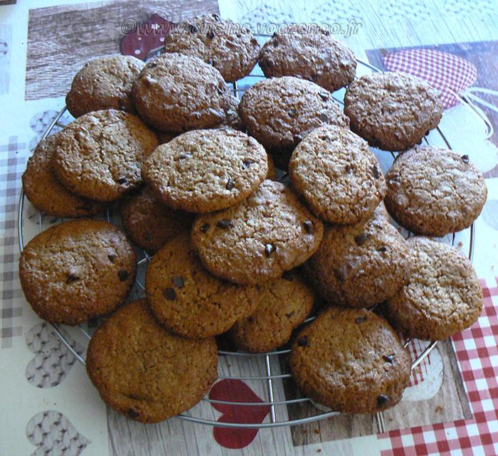 Cookies à la chicorée et pépites de chocolat noir fin