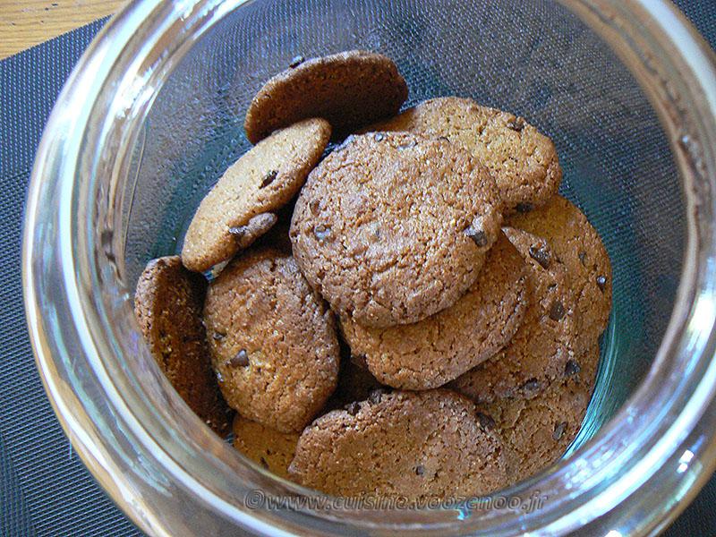 Cookies à la chicorée et pépites de chocolat noir fin2
