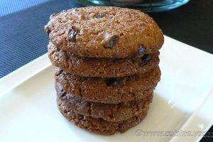 Cookies à la chicorée et pépites de chocolat noir