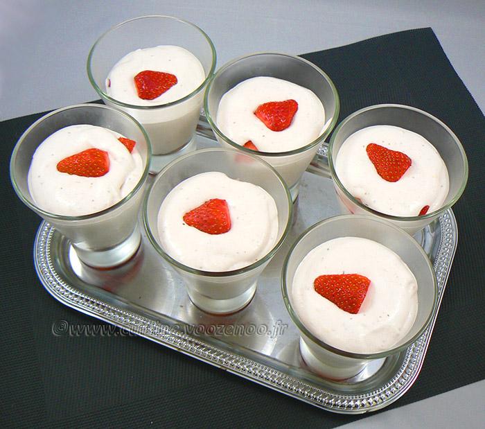Mousse aux fraises et ricotta à la vanille et zeste de citron fin2