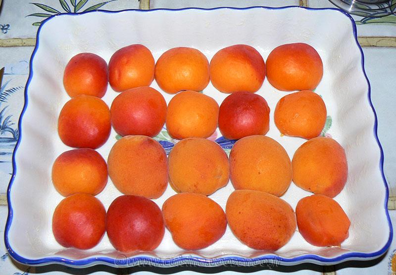 Flognarde aux abricots et amandes etape1