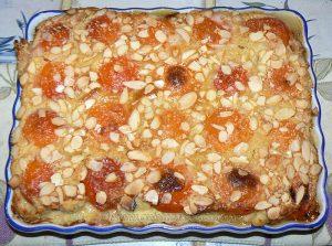 Flognarde aux abricots et amandes fin