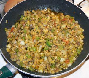 Cannellonis d'aubergine à l'agneau et petits légumes etape3