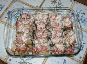Cannellonis d'aubergine à l'agneau et petits légumes etape6