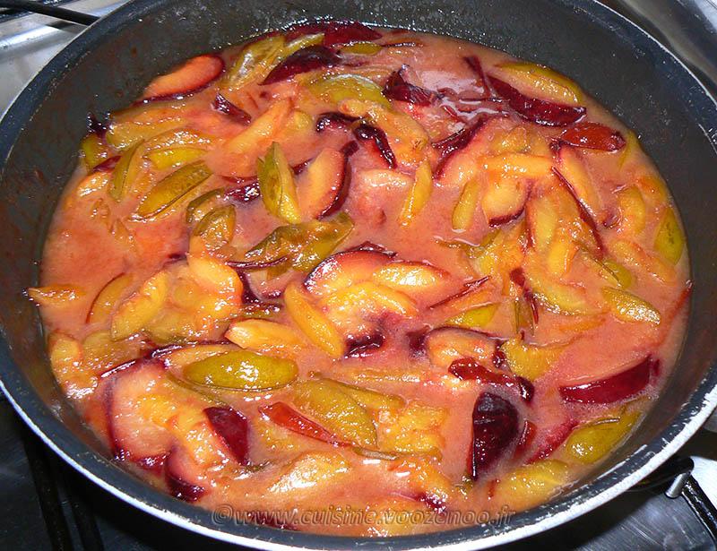 Flan brioché aux prunes etape1