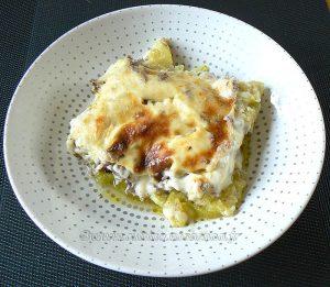 Gratin de courgettes, sauce béchamel au Kiri fin2