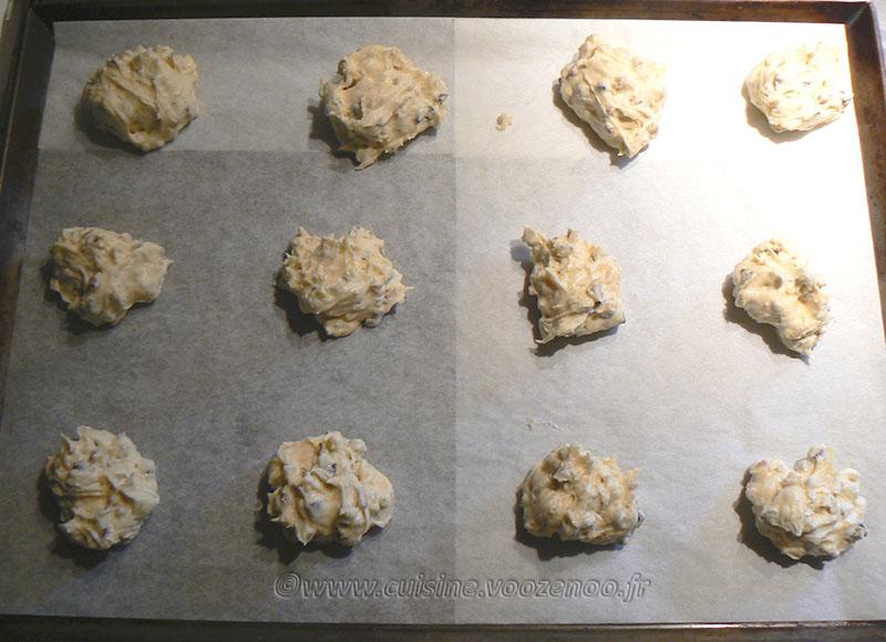 Cookies aux éclats de pistaches et pépites de chocolat etape2