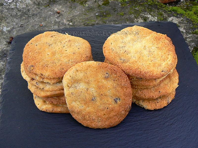Cookies aux éclats de pistaches et pépites de chocolat fin