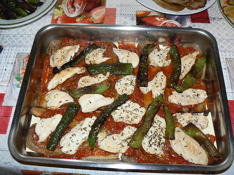 Lasagne de poulet et légumes d'été étape9