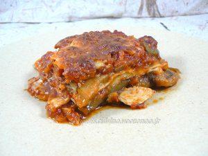 Lasagne de poulet et légumes d'été presentation