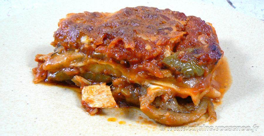 Lasagne de poulet et légumes d'été slider