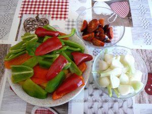 Côtes de porc à la fondue de poivrons etape1