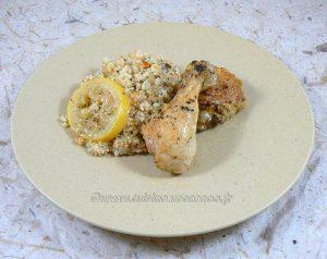 Cuisses de poulet citron, ail et basilic fin3