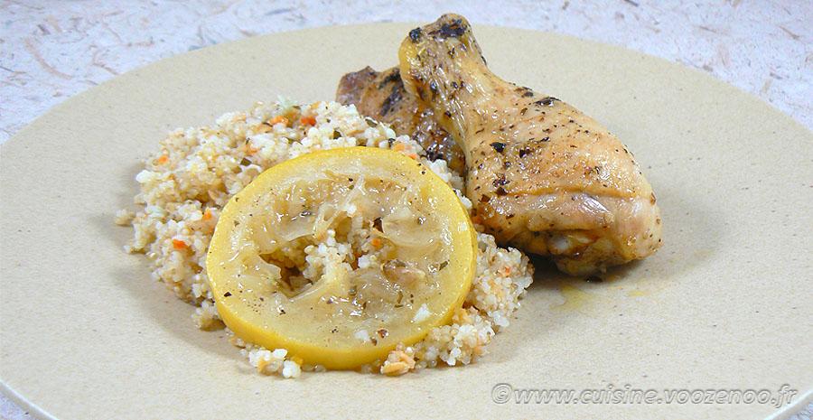 Cuisses de poulet citron, ail et basilic slider