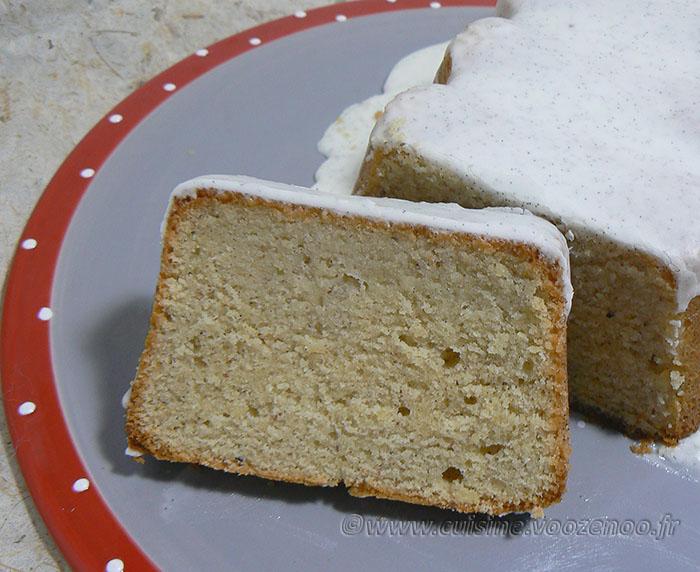 Cake infiniment vanille de Pierre Hermé presentation