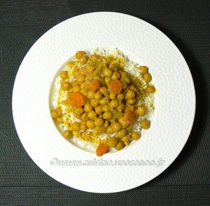 Curry de pois chiches au lait de coco fin