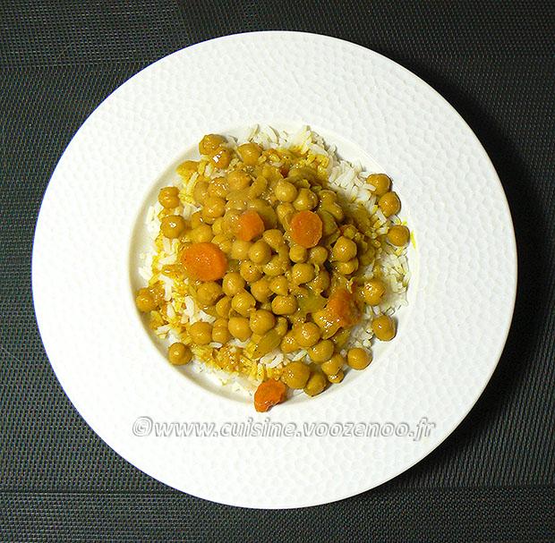 Curry de pois chiches au lait de coco fin