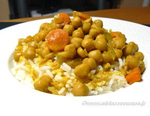 Curry de pois chiches au lait de coco presentation