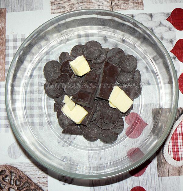 Pavé au chocolat noir « Ivre » etape1