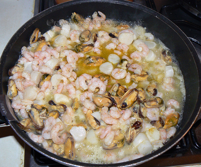 Bucatini aux fruits de mer, sauce bisque de homard etape5