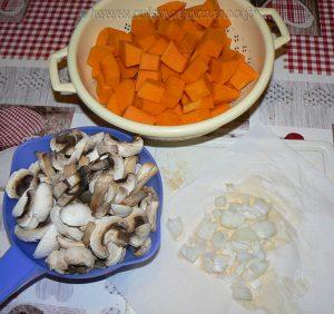 Quinoa à la Butternut et chipolatas etape1